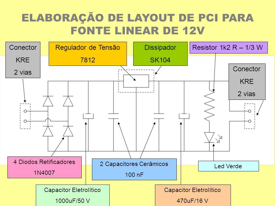 ELABORAÇÃO DE LAYOUT DE PCI PARA FONTE LINEAR DE 12V