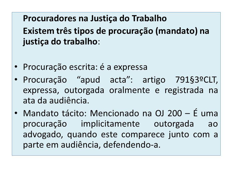 Procuradores na Justiça do Trabalho
