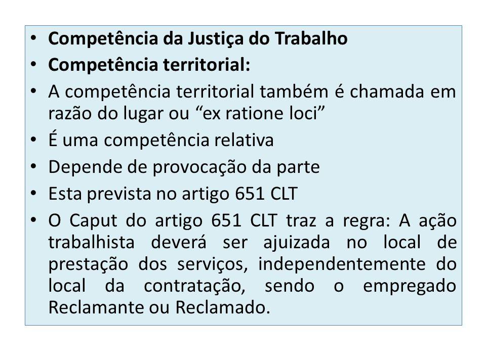 Competência da Justiça do Trabalho