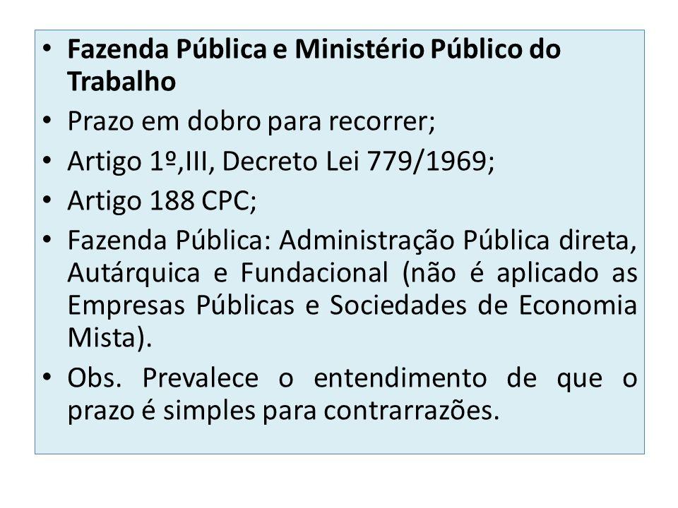 Fazenda Pública e Ministério Público do Trabalho