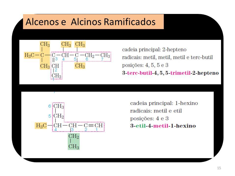 Alcenos e Alcinos Ramificados