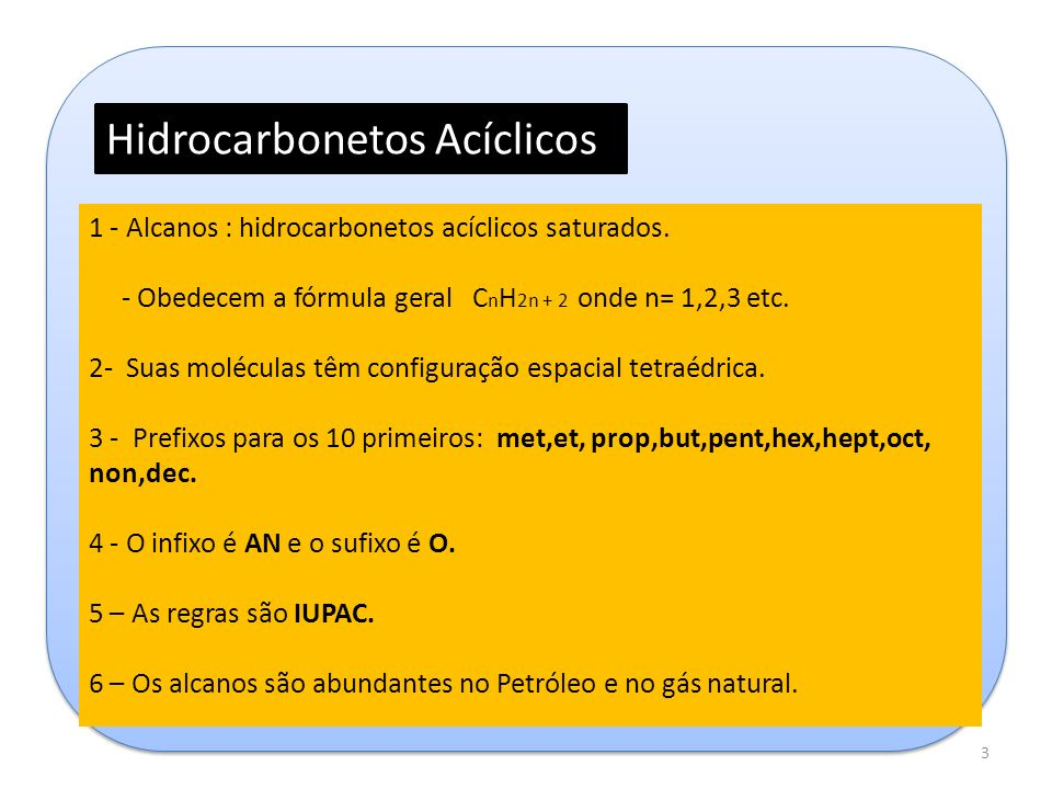 Hidrocarbonetos Acíclicos