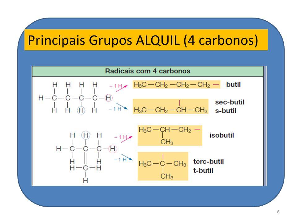 Principais Grupos ALQUIL (4 carbonos)