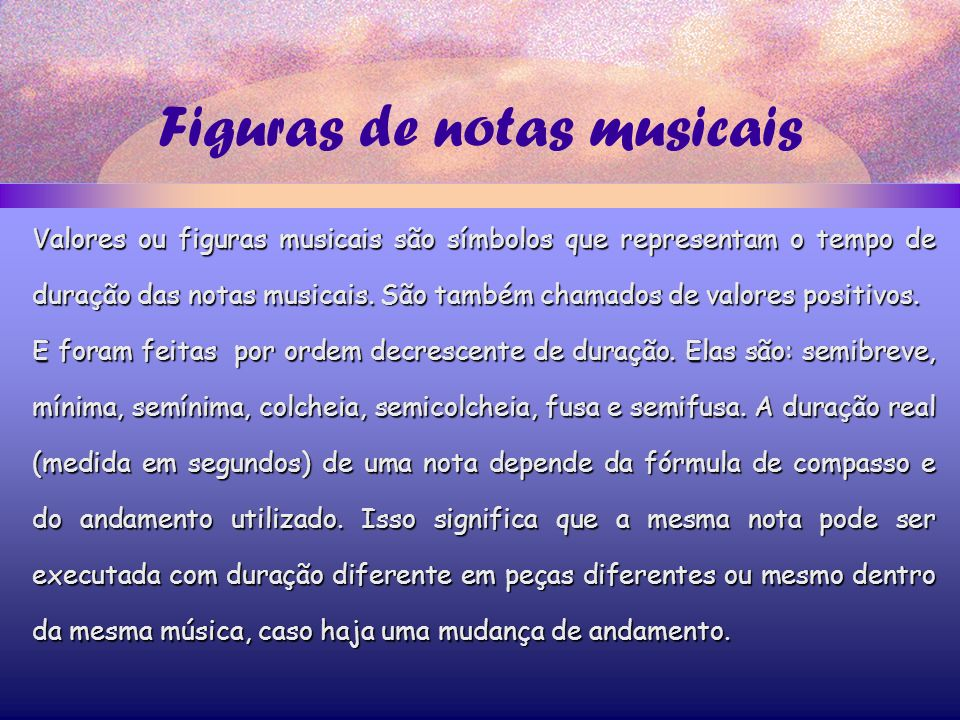 Figuras de notas musicais