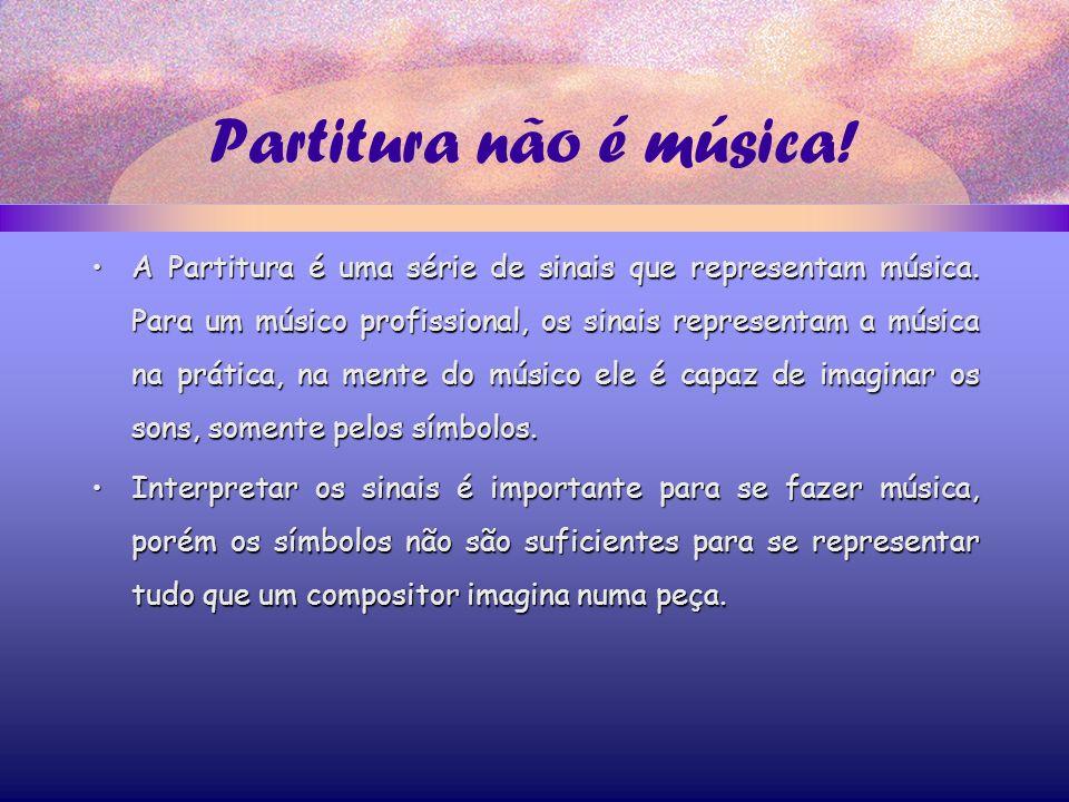 Partitura não é música!