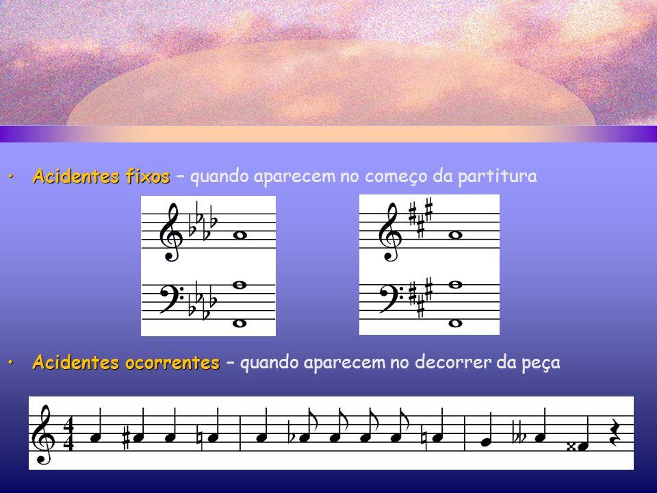 Acidentes fixos – quando aparecem no começo da partitura