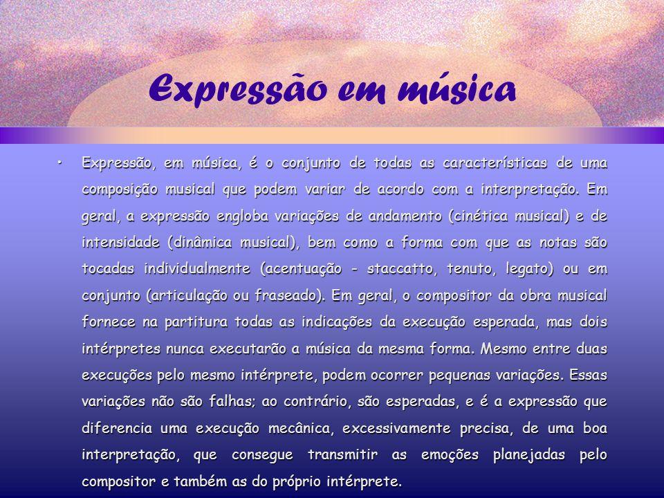 Expressão em música