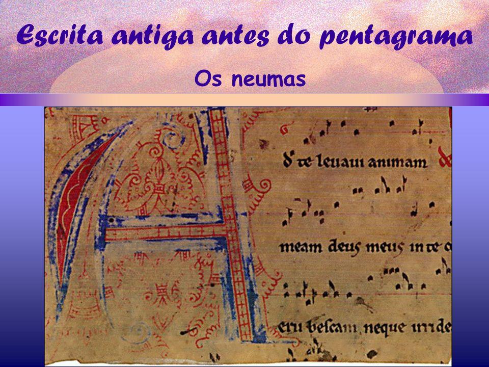 Escrita antiga antes do pentagrama