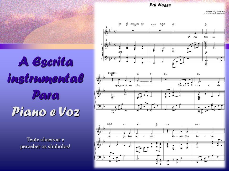 A Escrita instrumental Para Piano e Voz