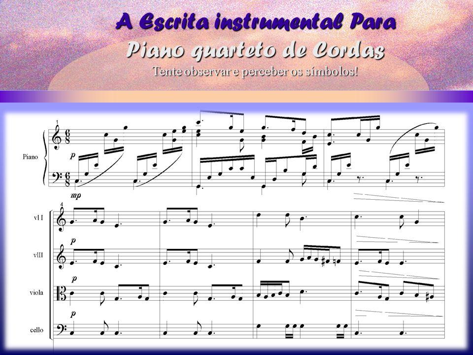 A Escrita instrumental Para Piano quarteto de Cordas