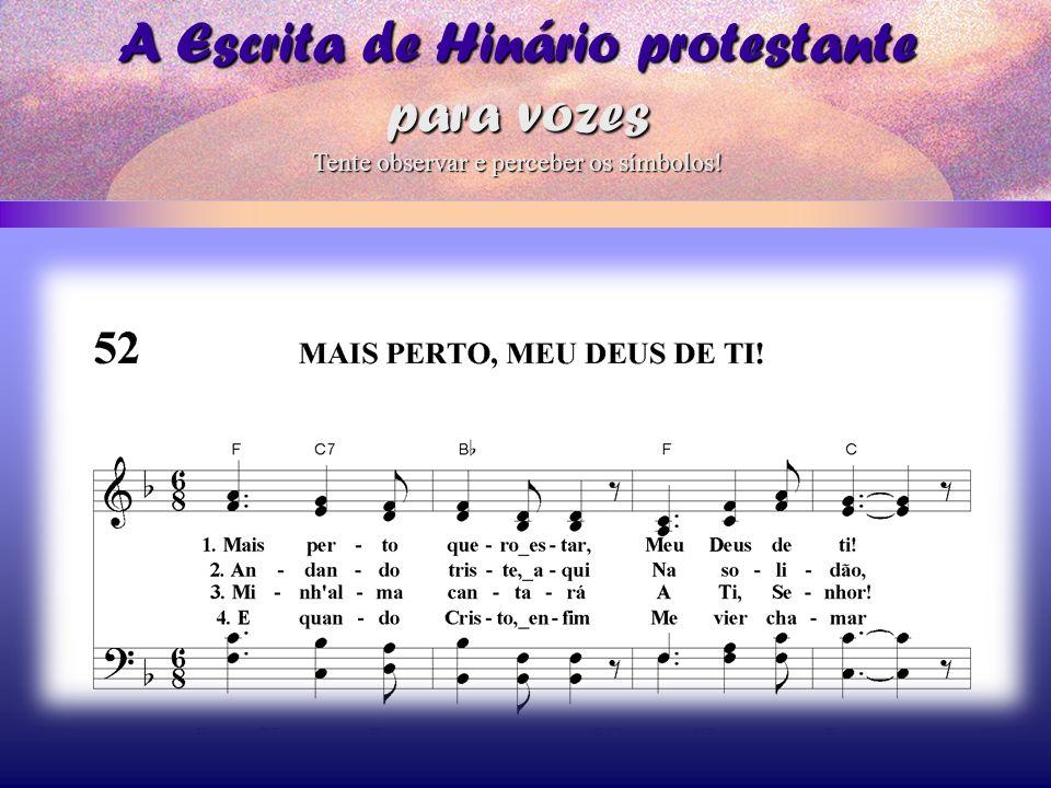A Escrita de Hinário protestante para vozes