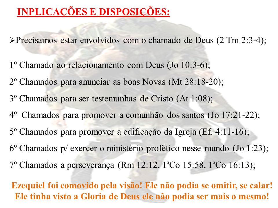 1º Chamado ao relacionamento com Deus (Jo 10:3-6);