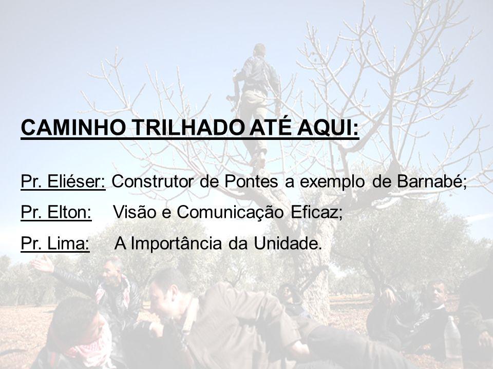 CAMINHO TRILHADO ATÉ AQUI:
