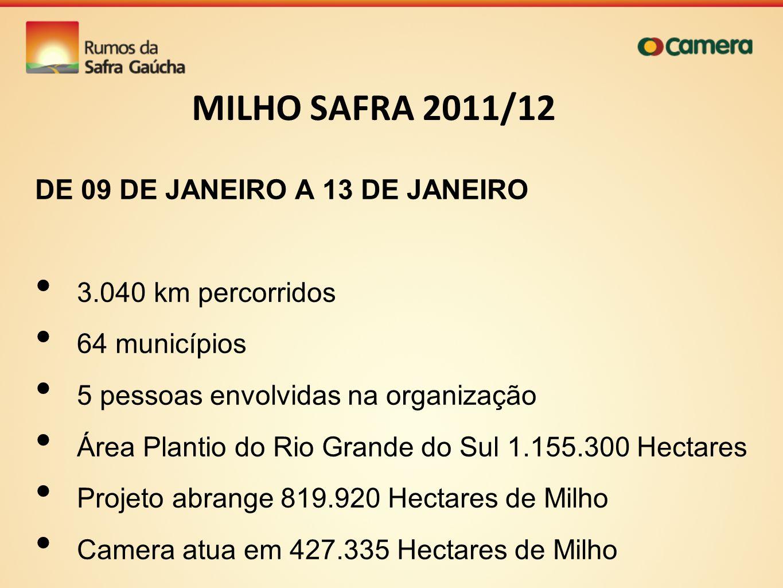 MILHO SAFRA 2011/12 DE 09 DE JANEIRO A 13 DE JANEIRO
