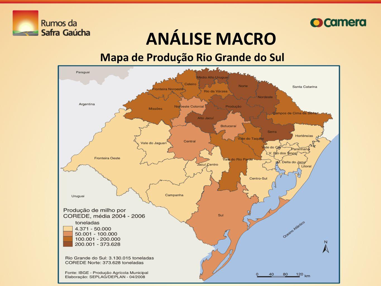 Mapa de Produção Rio Grande do Sul