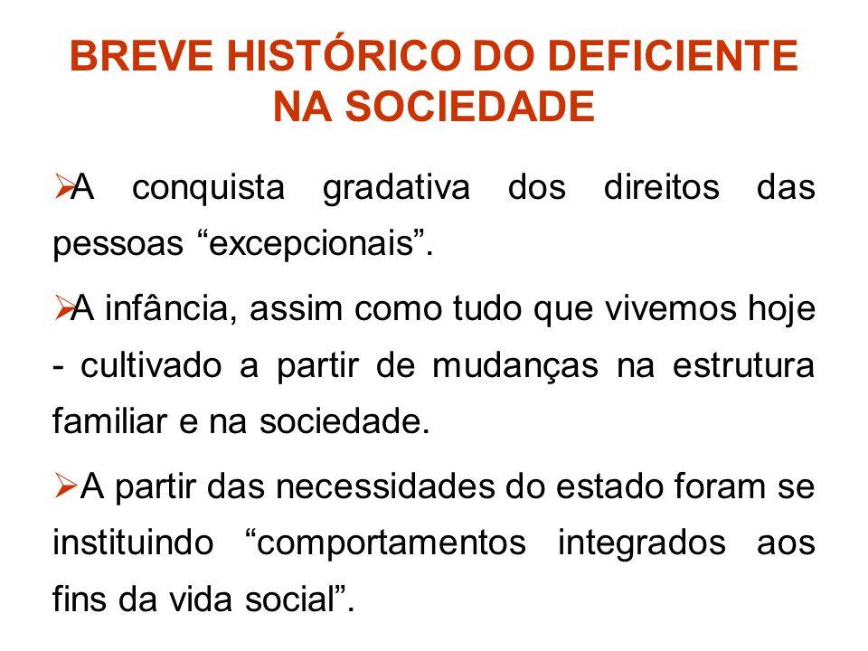 BREVE HISTÓRICO DO DEFICIENTE NA SOCIEDADE