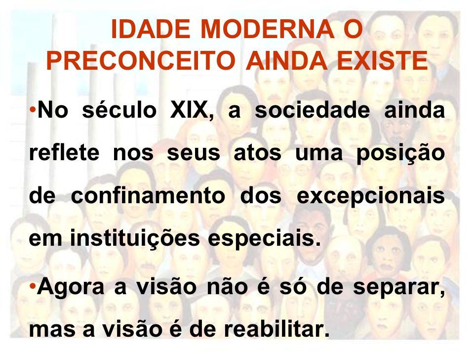 IDADE MODERNA O PRECONCEITO AINDA EXISTE