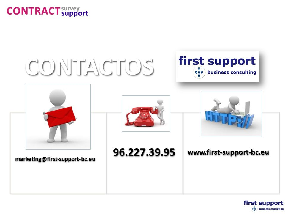 CONTACTOS 96.227.39.95 www.first-support-bc.eu