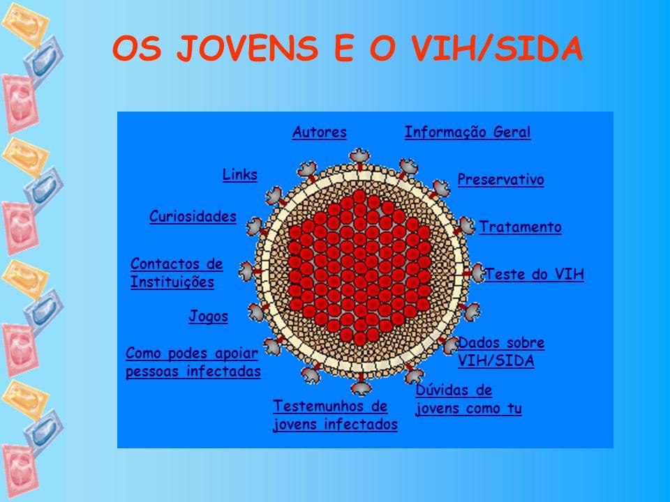 OS JOVENS E O VIH/SIDA Autores Informação Geral Links Preservativo