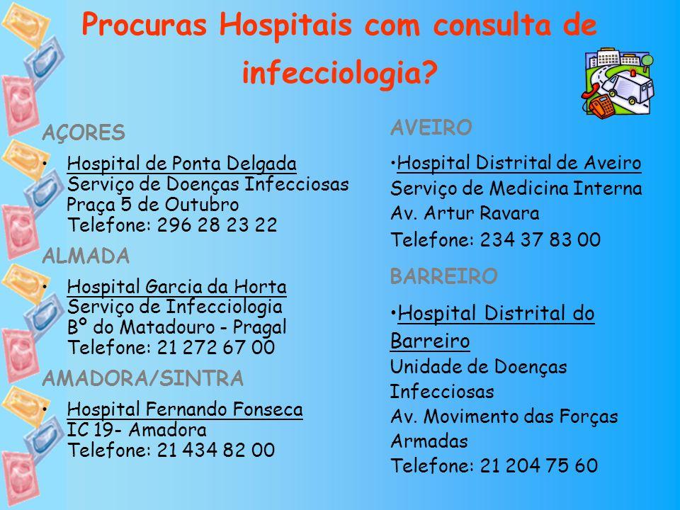 Procuras Hospitais com consulta de infecciologia