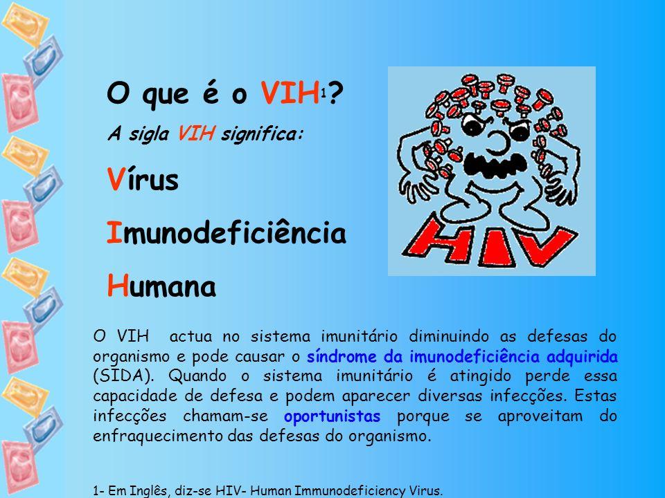 O que é o VIH1 Vírus Imunodeficiência Humana A sigla VIH significa: