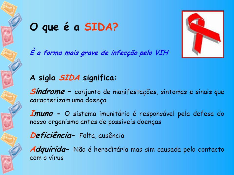 O que é a SIDA A sigla SIDA significa: