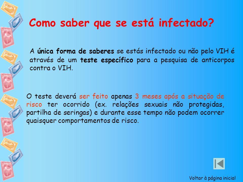 Como saber que se está infectado