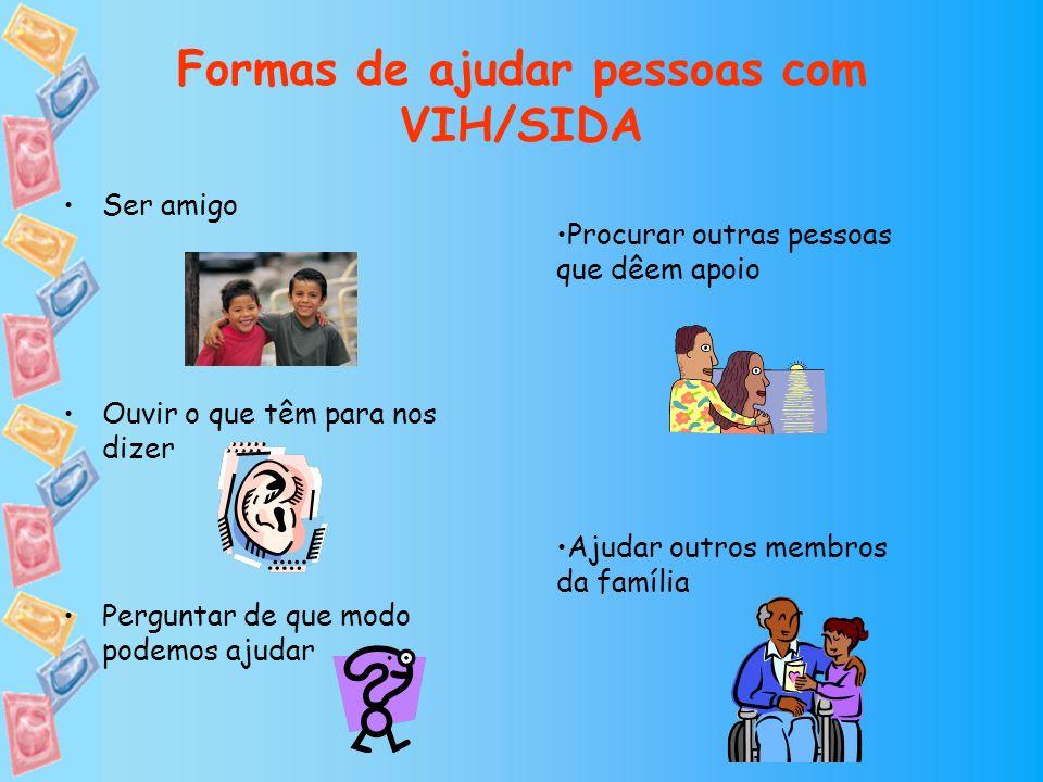 Formas de ajudar pessoas com VIH/SIDA