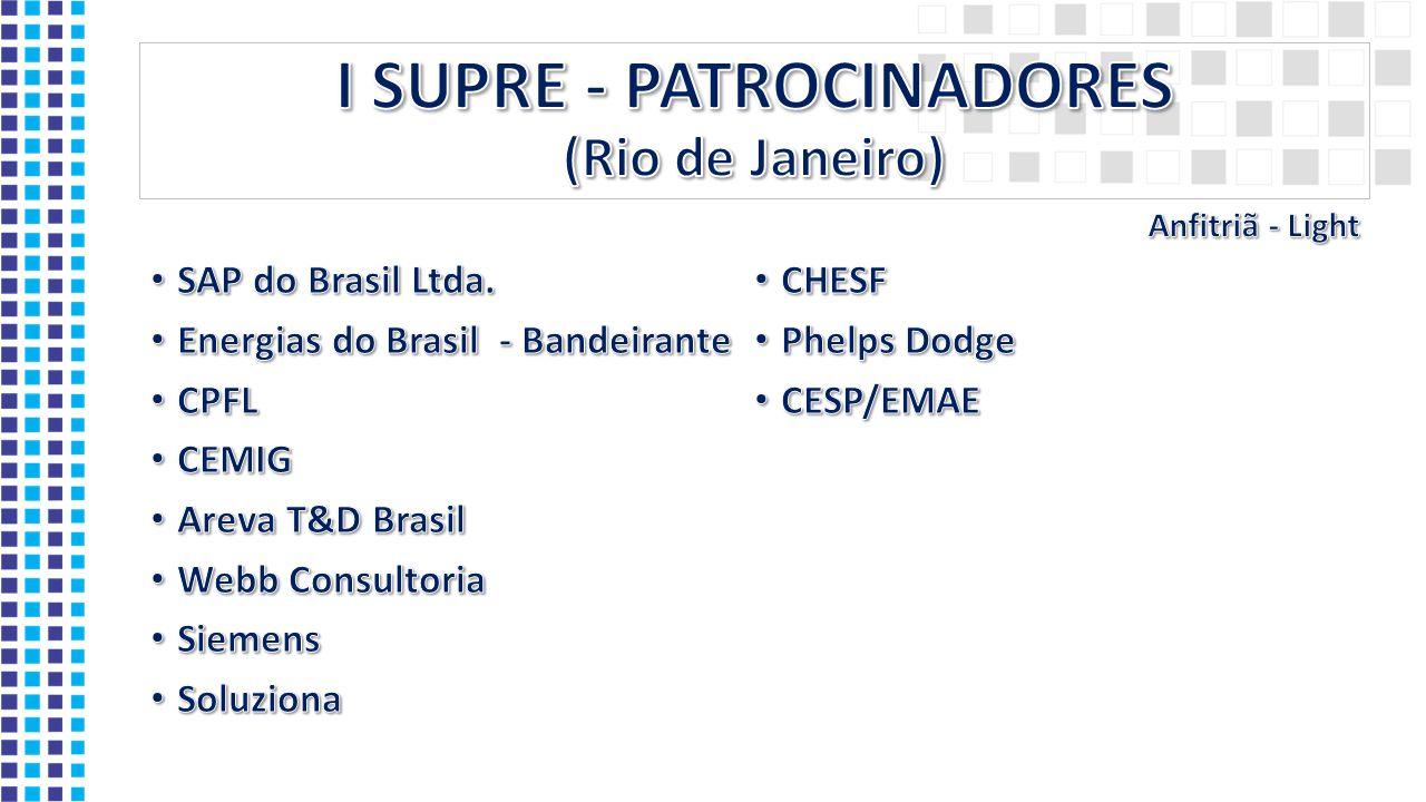 I SUPRE - PATROCINADORES (Rio de Janeiro)