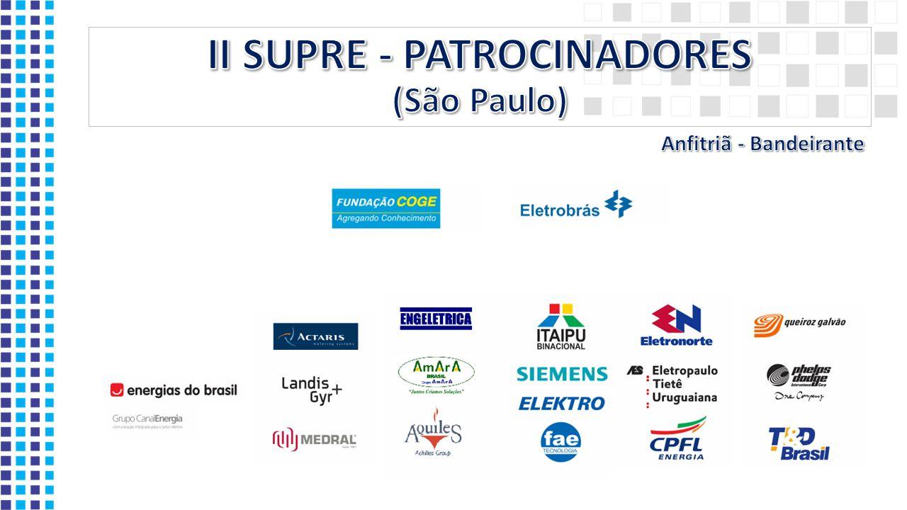 II SUPRE - PATROCINADORES (São Paulo)