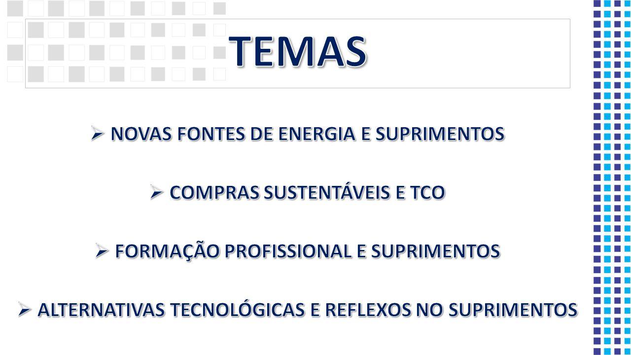 TEMAS NOVAS FONTES DE ENERGIA E SUPRIMENTOS COMPRAS SUSTENTÁVEIS E TCO