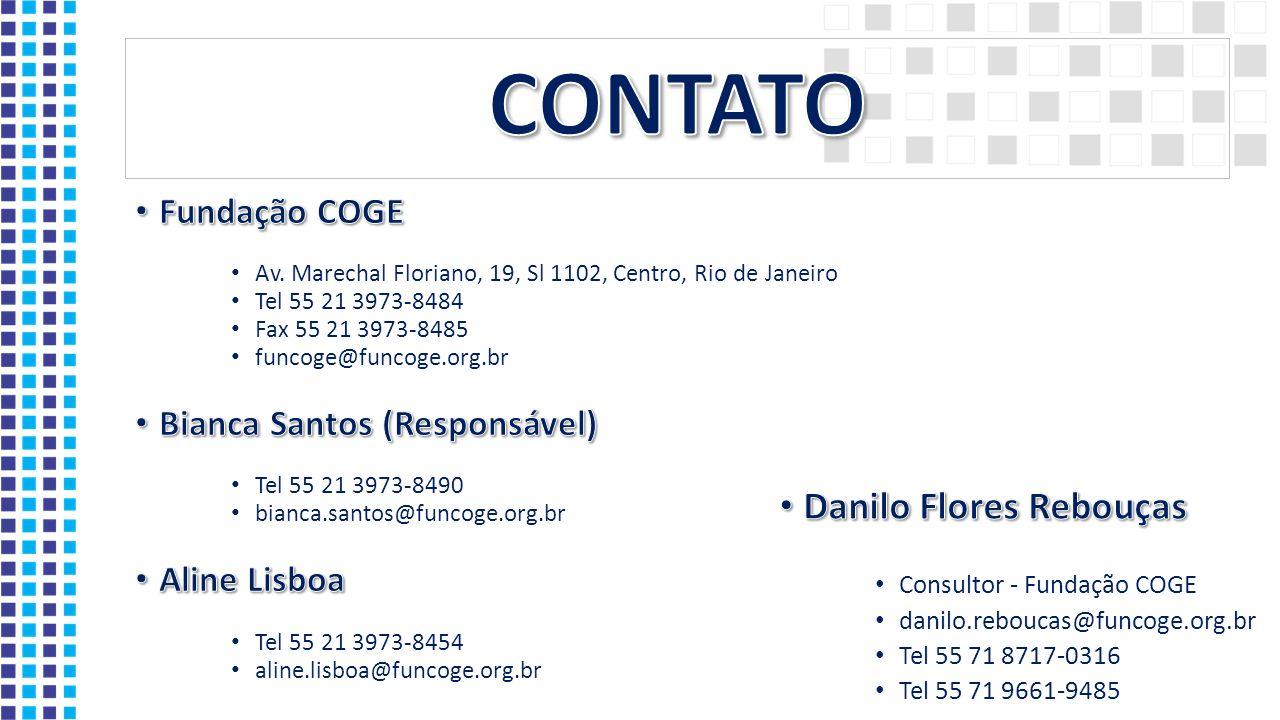 CONTATO Danilo Flores Rebouças Fundação COGE