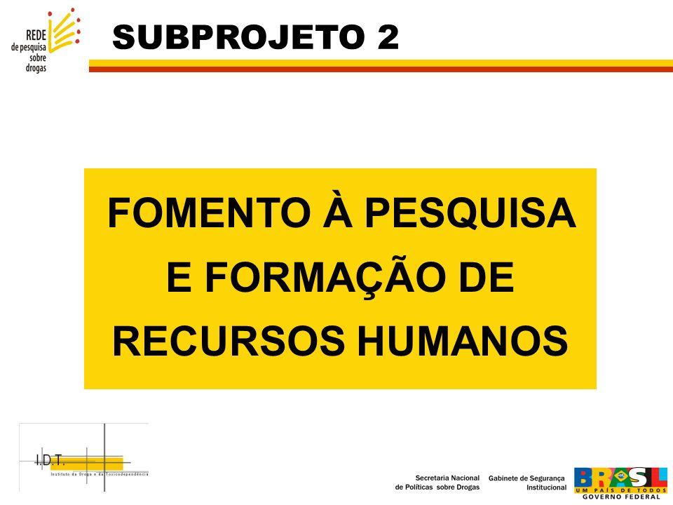 FOMENTO À PESQUISA E FORMAÇÃO DE RECURSOS HUMANOS