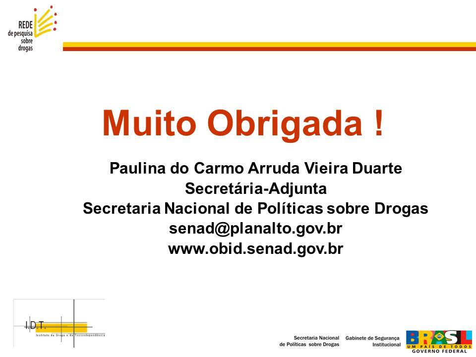 Muito Obrigada ! Paulina do Carmo Arruda Vieira Duarte
