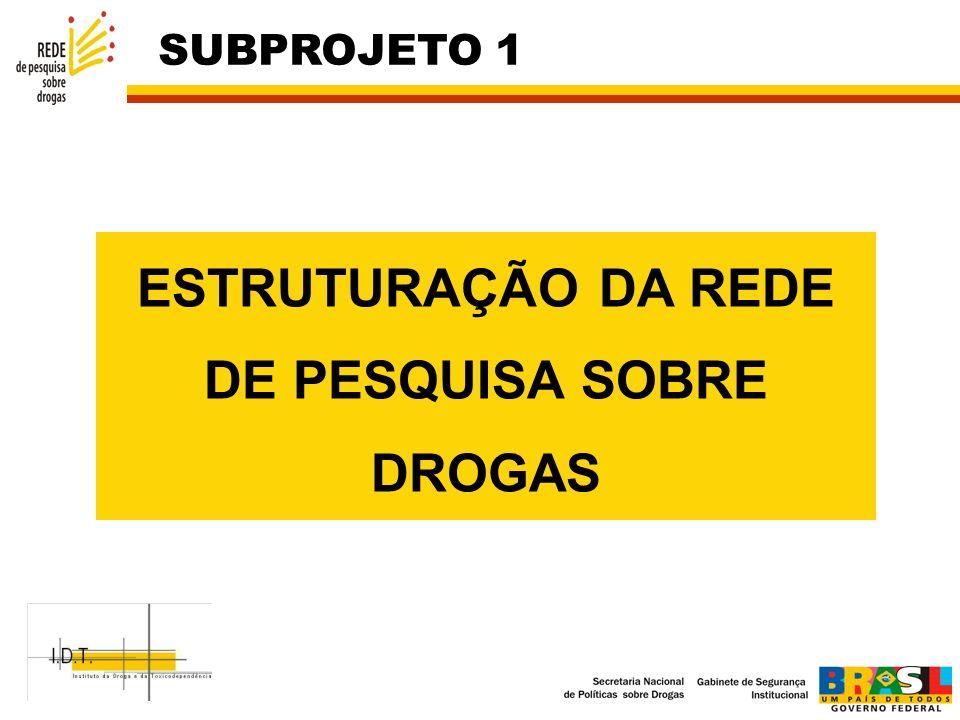 ESTRUTURAÇÃO DA REDE DE PESQUISA SOBRE DROGAS