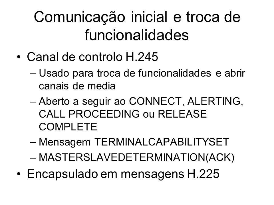 Comunicação inicial e troca de funcionalidades