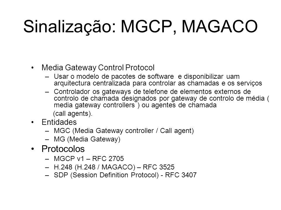 Sinalização: MGCP, MAGACO