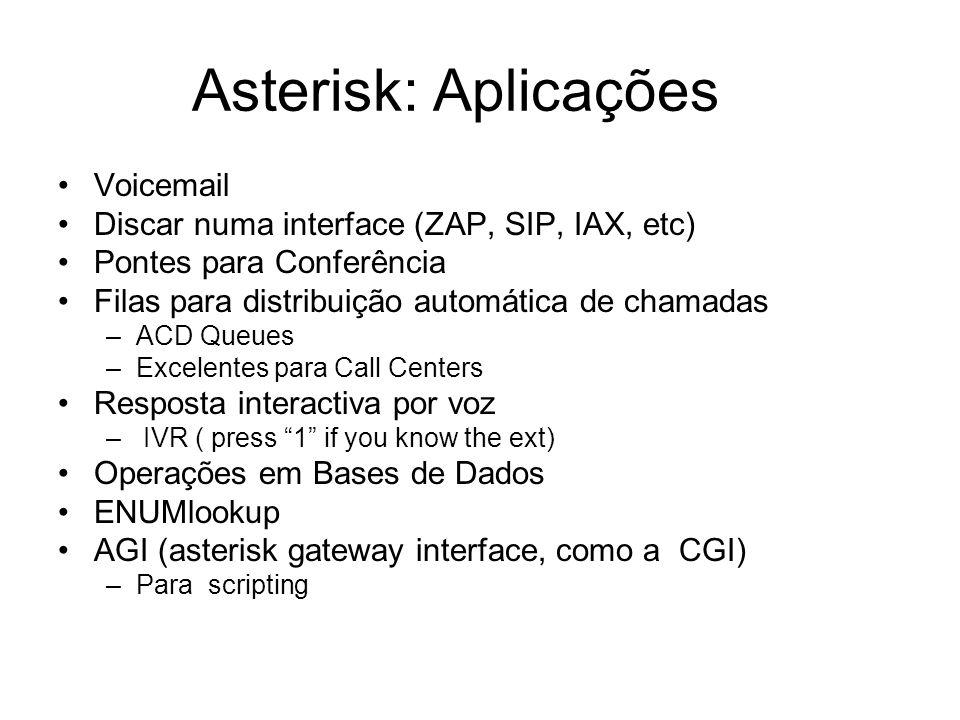 Asterisk: Aplicações Voicemail