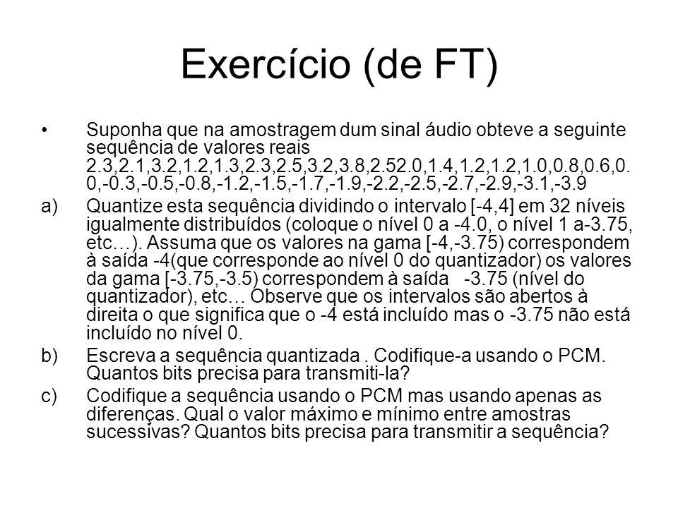 Exercício (de FT)