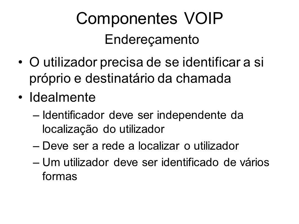 Componentes VOIP Endereçamento