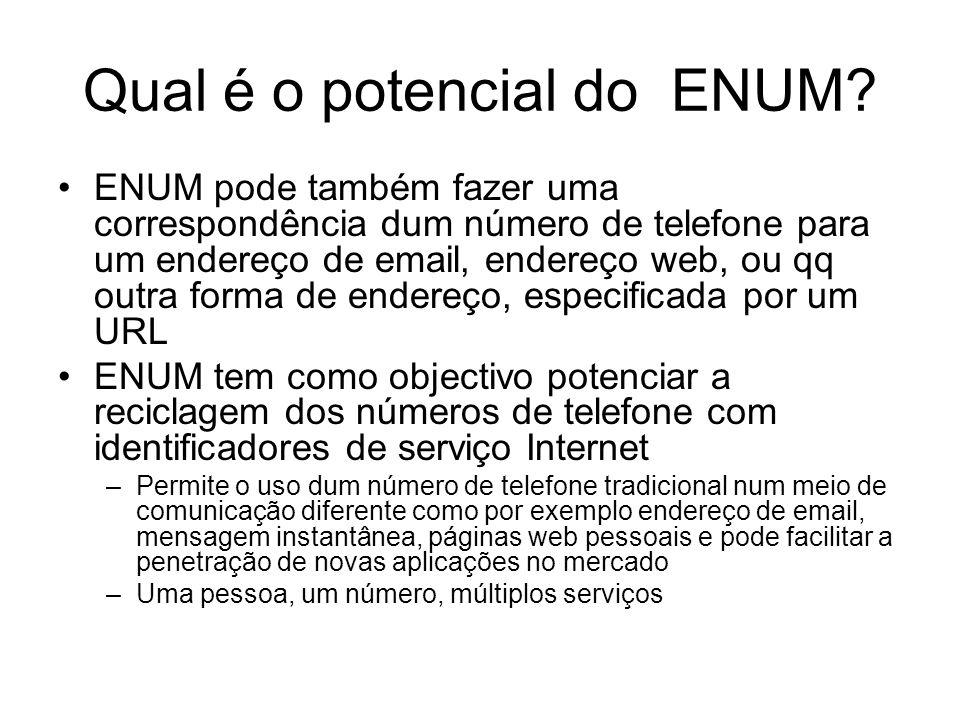 Qual é o potencial do ENUM