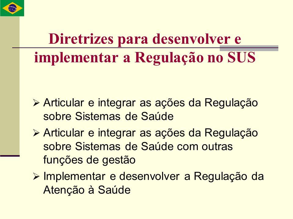 Diretrizes para desenvolver e implementar a Regulação no SUS