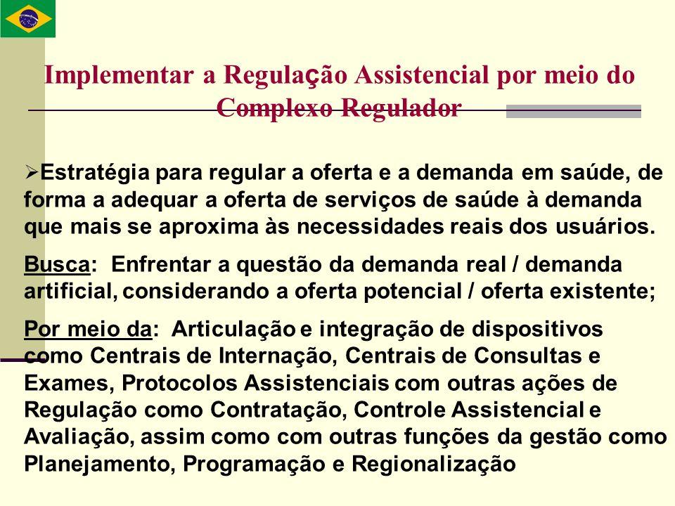 Implementar a Regulação Assistencial por meio do Complexo Regulador
