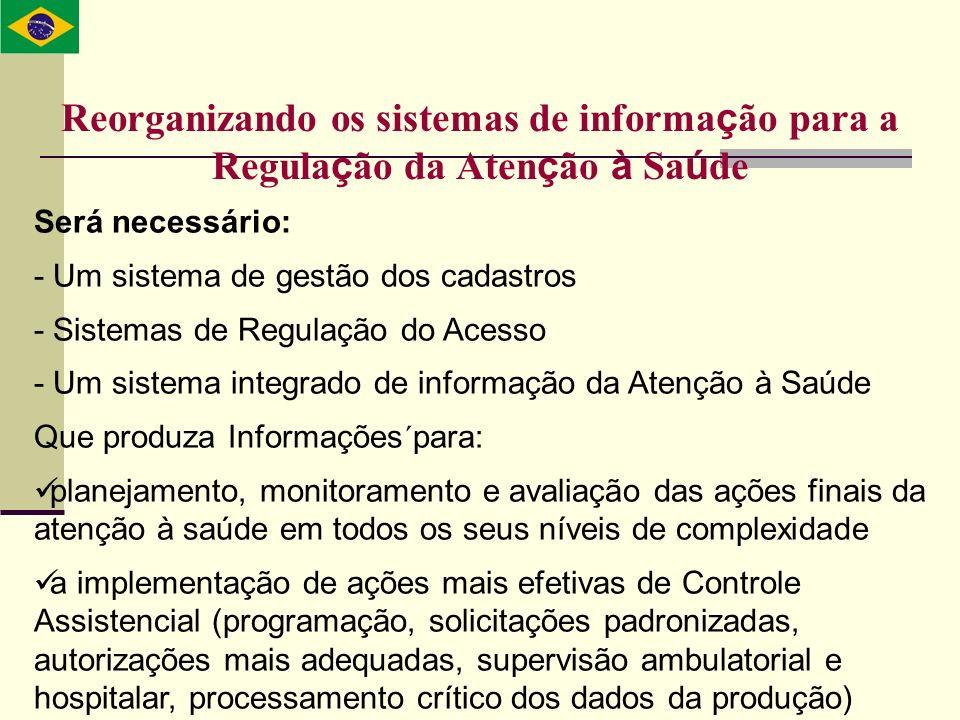 Reorganizando os sistemas de informação para a Regulação da Atenção à Saúde