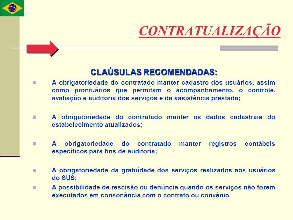 CLAÚSULAS RECOMENDADAS: