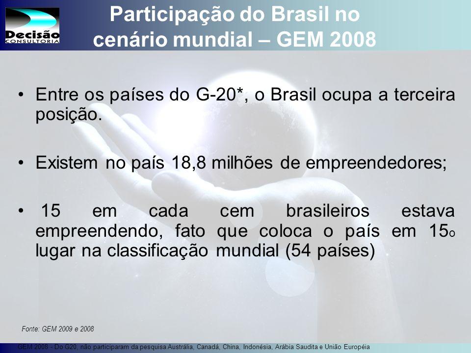 Participação do Brasil no cenário mundial – GEM 2008
