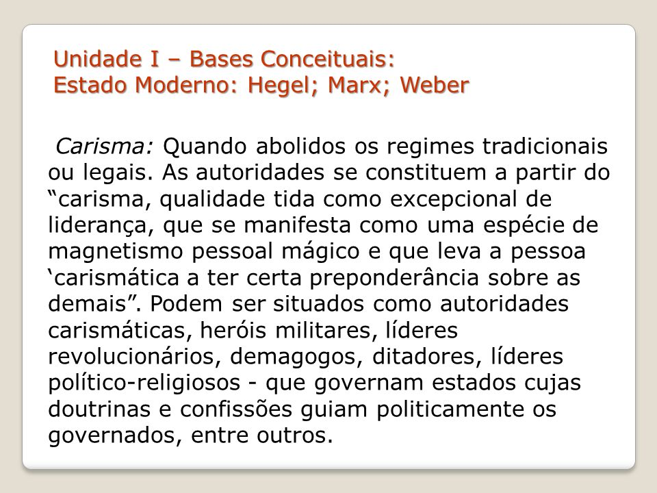 Unidade I – Bases Conceituais: