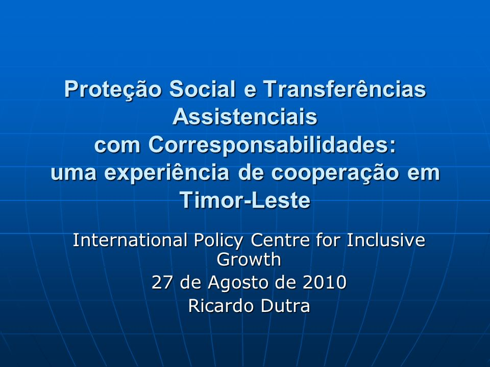 International Policy Centre for Inclusive Growth