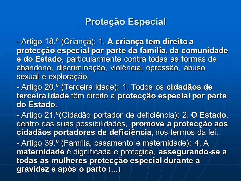 Proteção Especial