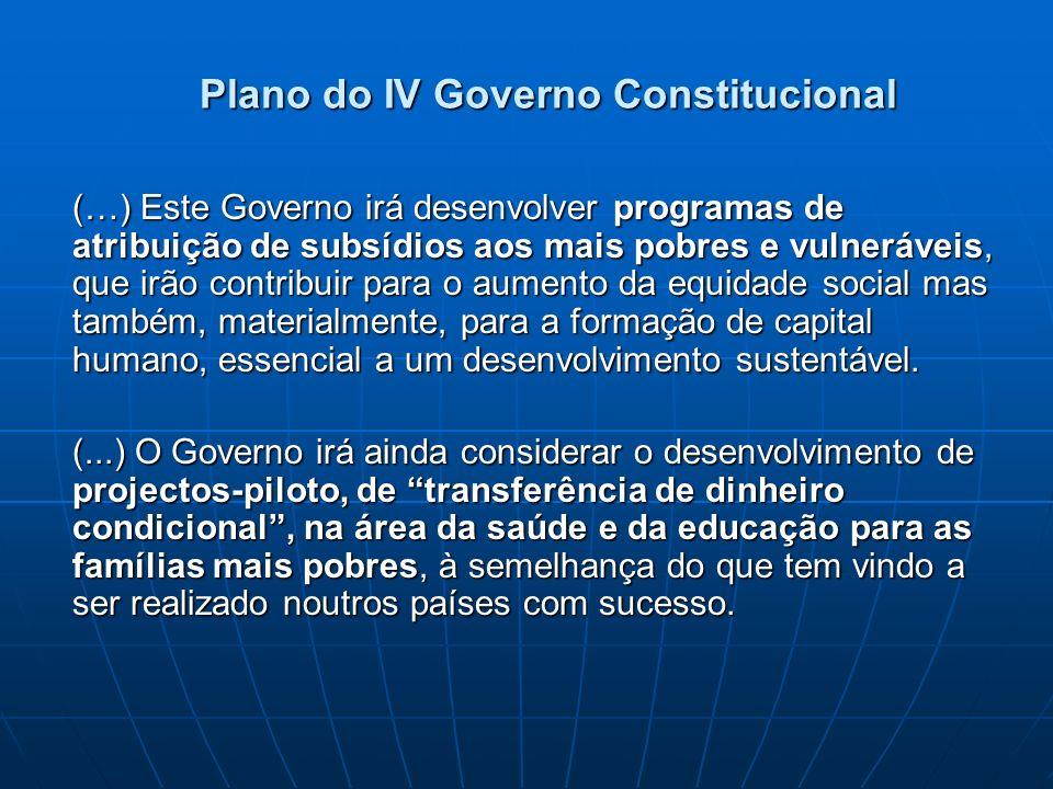 Plano do IV Governo Constitucional
